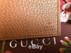 100%AUTHENTIC GUCCI X NEW YORK YANKEES BifoldWallet Leather/Canvas beige NEWithBOX