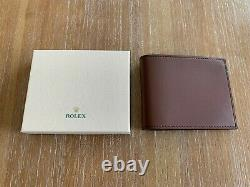 100% Authentic Brand New Rolex Leather Wallet