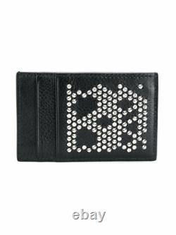 Alexander McQueen Studded Skull Leather Card Holder NWT 100% AUTHENTIC