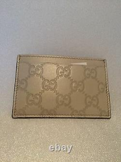 Authentic Gucci Ivory Leather Card Wallet New with Tags, In Gucci Gift Box