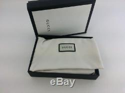 Authentic Gucci Mens GG Supreme Web Bifold Canvas Wallet with Coin Pocket