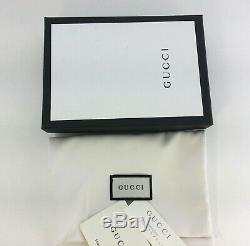 Authentic Gucci Signature Guccissima Zip Navy Blue Leather Card Case Card Holder