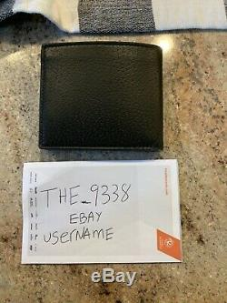 Authentic Men Gucci Black GG Leather Wallet
