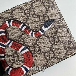 Authentic Men Gucci Leather snake Wallet #36