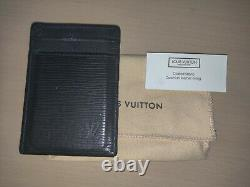 Authentic Retired Louis Vuitton Epi Leather Pince Card Holder With Bill Clip