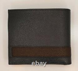 BALLY LYITE Bovine Embossed Leather Bifold Wallet Navy NWT 0/487