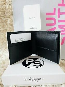 BNWB Paul Smith Mens Multi Stripe Signature BF Coin Leather Wallet Made in Italy