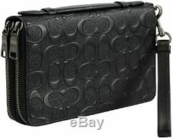 BNWT Coach Double Zip Travel Organizer In Signature Leather F67637