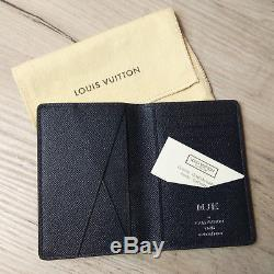 58b41d2d984b Brand New Louis Vuitton Men s Wallet Taiga Embossed Black Leather Card  Holder