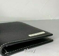 Burberry Bifold Wallet Grainy Leather House Check Black 100%Genuine