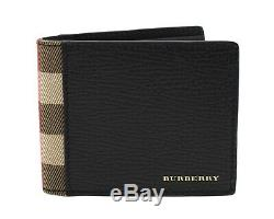Burberry Billfold House Check Wallet Black New