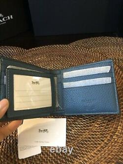 COACH Spider-Man Marvel 3-In-1 Men's Wallet Leather NWT