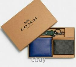 Coach Boxed 3-In-1 Wallet Gift Set In Colorblock Signature Canvas Blue