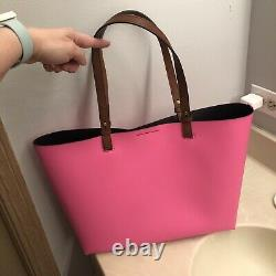 Coach & Fossil Bundle Hot Pink Tote, with Pac-Man Wallet, Tablet, Key Chain