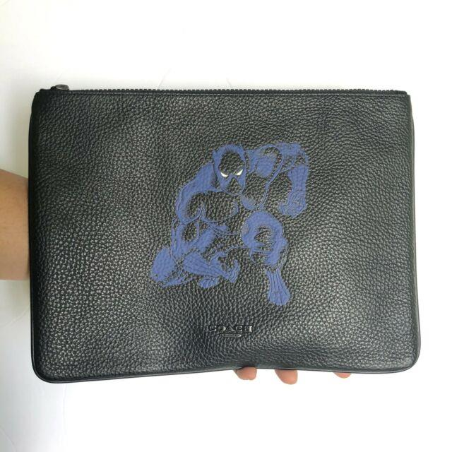 Coach Marvel Black Panther Large Carryall Pouch Wallet Tablet Case Nwt $198