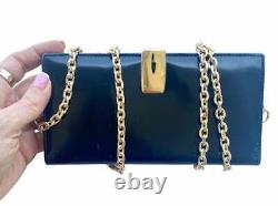 GUCCI Authentic Pre Owned Vintage Wallet -Wallet On Chain Added Crossbody WOC