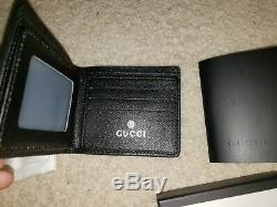 GUCCI Guccissima GG Black Leather RED GREEN Men Wallet