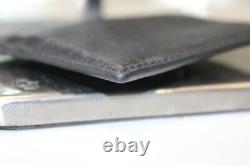 Gucci Black Leather Bee Gold-Tone Embellished Card Holder-Very Good&Auth