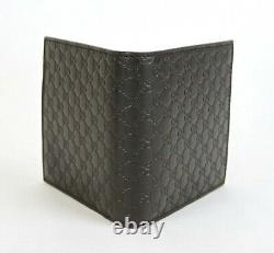 Gucci Dark Brown Guccissima Leather Bi-fold Wallet with Coin Pocket 150413 2044