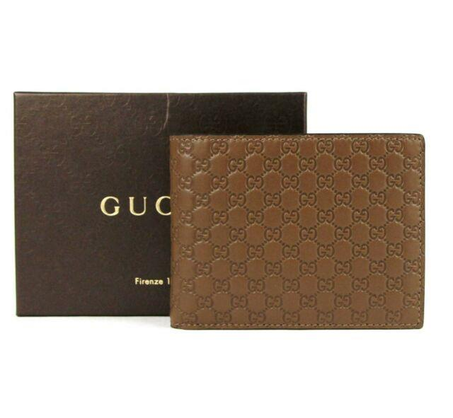 Gucci Men's Brown Microguccissima Leather Bi-fold Wallet Withid Window 217044 2527