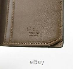 Gucci Men's Brown Microguccissima Leather Long Bi-fold Wallet 449245 2527