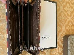 Gucci Messenger Bag, Wallet, & Dust Bags Tiger Spaceship New York Patches