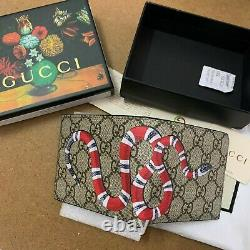 Gucci snake GG leather men's wallet