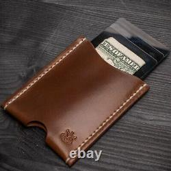 Horween Shell Cordovan leather mens minimalist travel wallet card holder