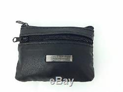 Ladies Mens Boys Girls Soft Leather Black Zipped Coin Change Notes Wallet Purse