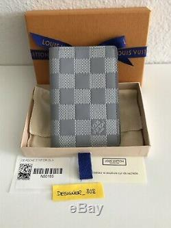 Louis Vuitton NEW with Tags Damier Infini Leather Silver Gray Pocket Organizer
