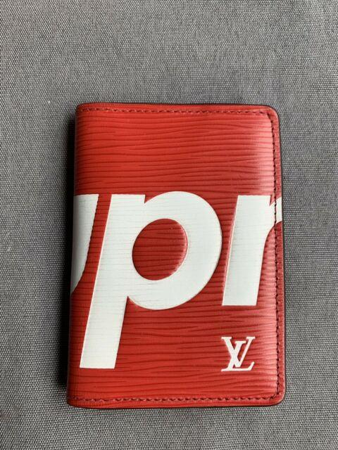 Louis Vuitton X Supreme Lv Red Epi Leather Pocket Organizer 100% Authentic Used
