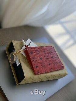MCM Card Holder Zipper Red Keychain Wallet Pouch Gucci LV Supreme