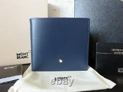 MONTBLANC Meisterstuck Classic Wallet with Coin Navy Italy 115133 NIB $445