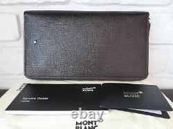 MONTBLANC Meisterstuck Selection Travel Wallet Brown Leather Italy 119303 $565