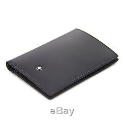 Man Wallet MONTBLANC MEISTERSTUCK 7CC black leather and id card holder New 35798