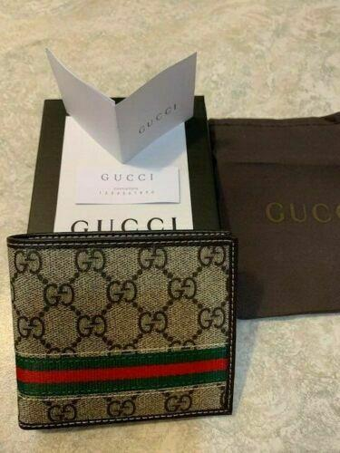Men Gucci Brown Leather Wallet