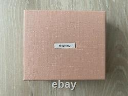 Miu Miu Quilted Black Leather Bifold Compact Wallet Purse Cardholder