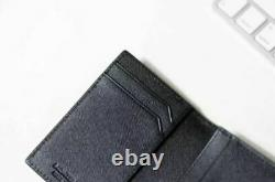 Mont Blanc 113223 Satorial Mens Business Card Holder Leather Wallet Tracking
