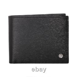 Mont Blanc 114686 Westside Men's Small Leather Wallet 6CC Black Tracking