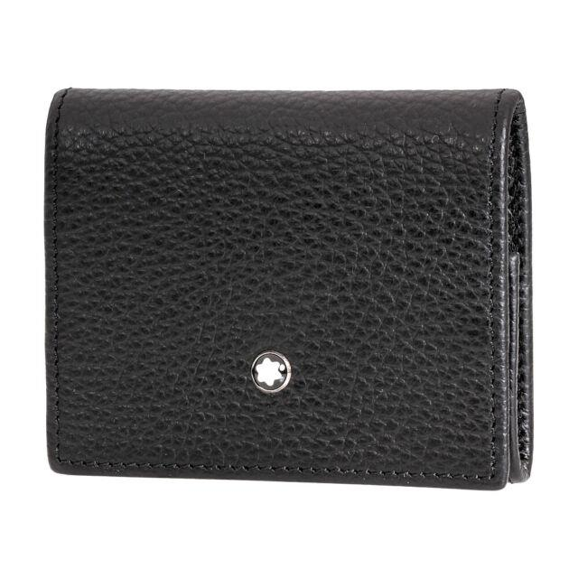 Montblanc Meisterstuck Men's Small Leather Coin Case Wallet 113307