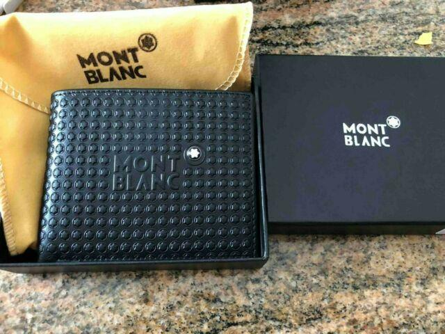 Montblanc Meisterstuck Men's Small Leather Wallet 6cc With Money Clip