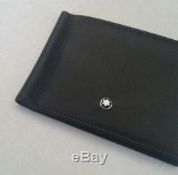 Montblanc Men's Meisterstuck 6 Cc With Money Clip Leather Wallet New Mont Blanc