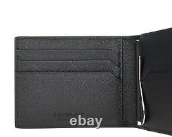 Montblanc Sartorial Wallet Money Clip Camouflage Blue Saffiano Leather New