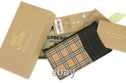 NEW BURBERRY SOMERSET MINI WALLET CARD HOLDER ZIPPED CASE WithBOX