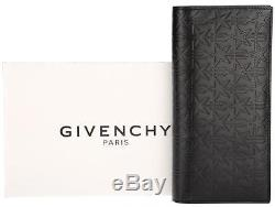New Givenchy Men s Black Leather Star Embossed Long Card Bill Case Bifold  Wallet c76696e24