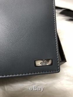NWT Authentic GUCCI Men's BiFold Wallet In Grey Leather with Picture & Coin Pocket