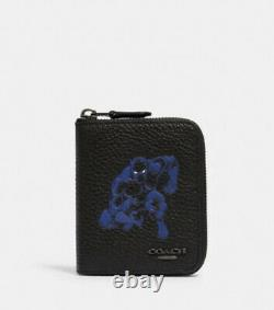 NWT -COACH x Marvel Medium Zip Around Wallet with Black Panther LIMITED Edition