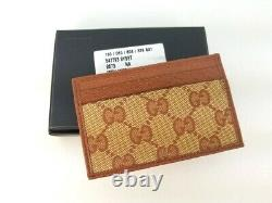 NWT Gucci 547793 NY Yankees Brown Guccissima Bi fold Wallet Card Holder Case