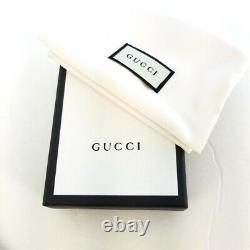 NWT Gucci Mens Black Signature Leather 233166 GG Card Case Card Holder