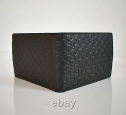 New Authentic GUCCI MICROGUCCISSIMA LOGO Brown Leather BIFOLD Wallet #292534